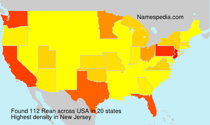 Surname Rean in USA