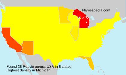 Surname Reavie in USA