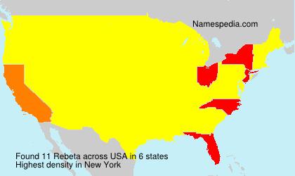 Surname Rebeta in USA