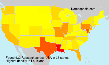 Surname Rebstock in USA
