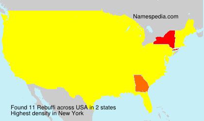 Familiennamen Rebuffi - USA