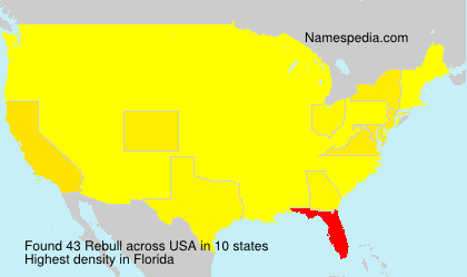 Surname Rebull in USA