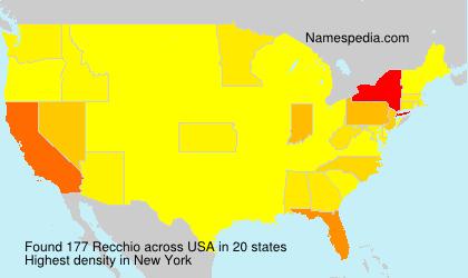 Surname Recchio in USA