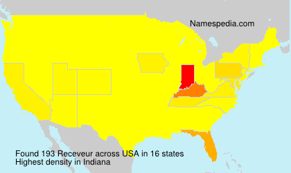 Surname Receveur in USA
