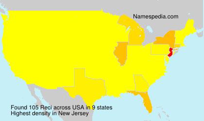 Surname Reci in USA