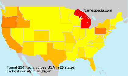 Surname Recla in USA