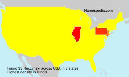 Surname Reczynski in USA