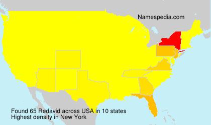 Surname Redavid in USA