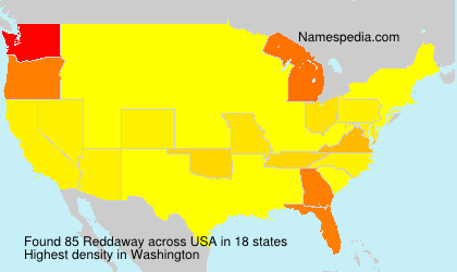 Surname Reddaway in USA
