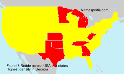 Surname Redde in USA