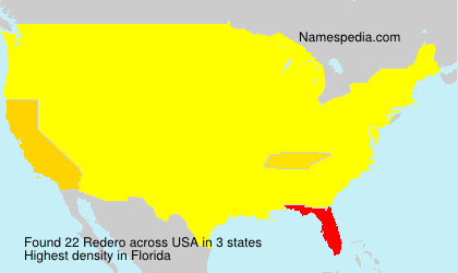 Surname Redero in USA