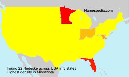 Surname Redeske in USA