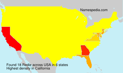Surname Redie in USA