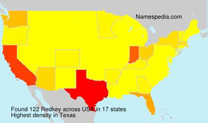 Familiennamen Redkey - USA
