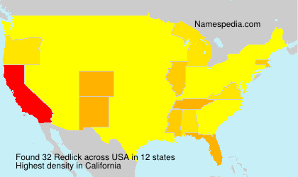 Surname Redlick in USA