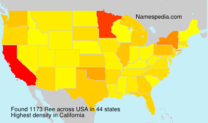 Surname Ree in USA