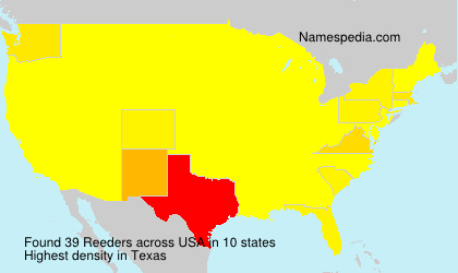 Surname Reeders in USA