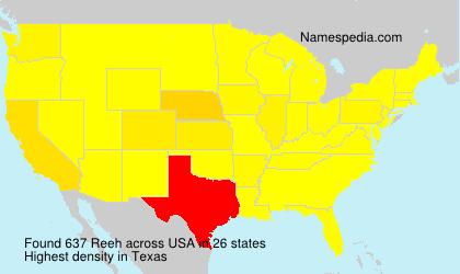 Familiennamen Reeh - USA