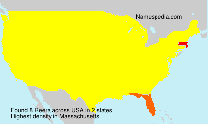 Surname Reera in USA