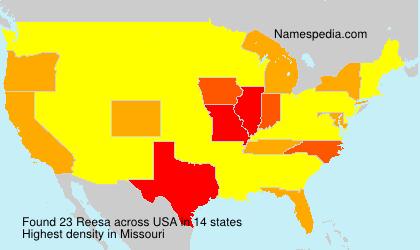 Familiennamen Reesa - USA