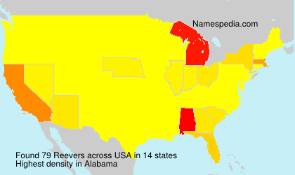 Surname Reevers in USA