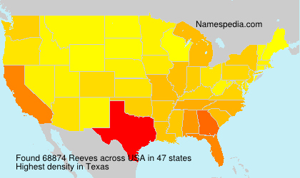 Surname Reeves in USA