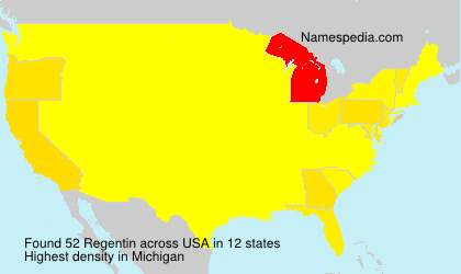 Surname Regentin in USA