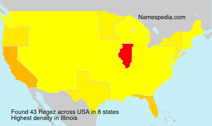 Surname Regez in USA