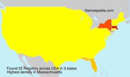 Surname Regolino in USA