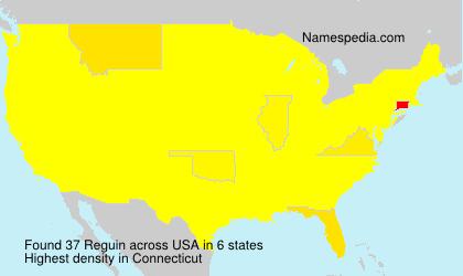 Surname Reguin in USA