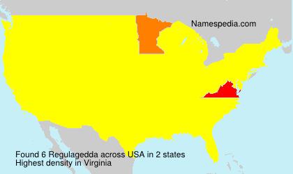 Surname Regulagedda in USA