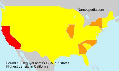 Surname Reguyal in USA