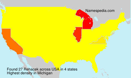 Surname Rehacek in USA