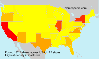 Surname Rehana in USA