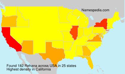Familiennamen Rehana - USA