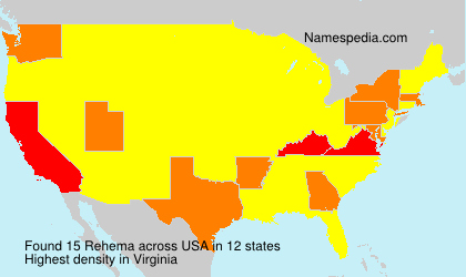 Surname Rehema in USA