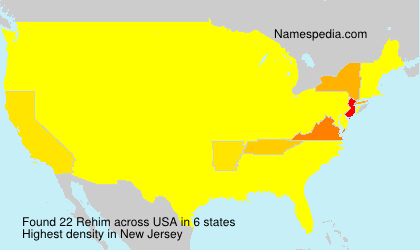 Surname Rehim in USA