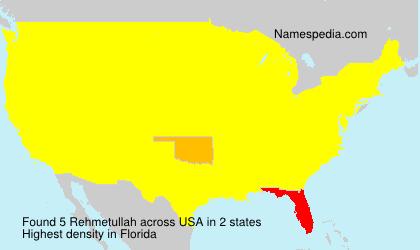Surname Rehmetullah in USA