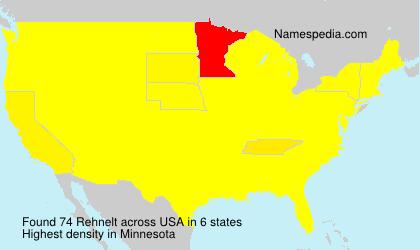 Familiennamen Rehnelt - USA