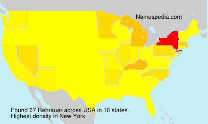 Surname Rehrauer in USA