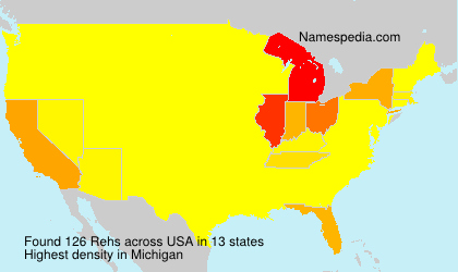 Surname Rehs in USA