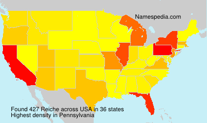 Surname Reiche in USA