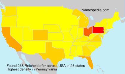Surname Reichelderfer in USA