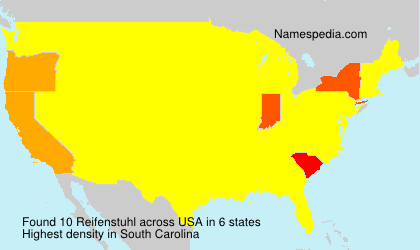 Surname Reifenstuhl in USA