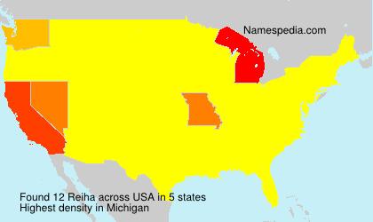 Surname Reiha in USA
