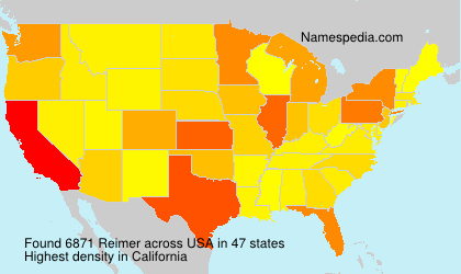 Surname Reimer in USA