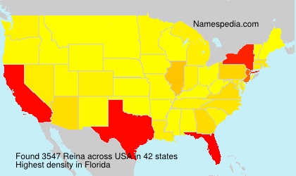 Surname Reina in USA