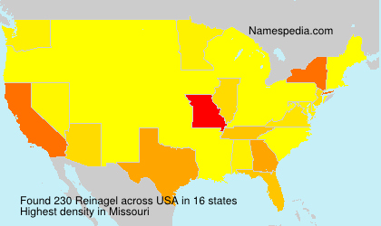Surname Reinagel in USA