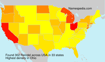 Surname Reindel in USA