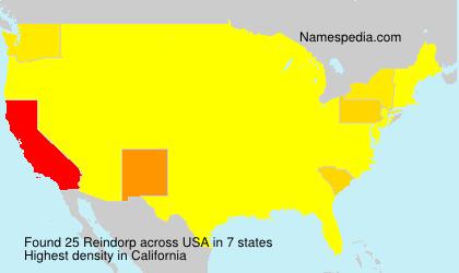 Familiennamen Reindorp - USA